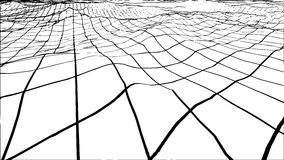 Abstract polygonal wave wireframe background. Vector illustration. Stock Photo
