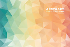 Abstract polygons multicolored background. Royalty Free Stock Photo