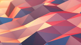 Abstract Polygons Waves Perfect Background stock video