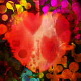 Pop-art heart Royalty Free Stock Images