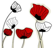 Abstract poppies Stock Photos