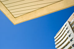 Abstract porch and sky. Porch of modern building against the blue sky Royalty Free Stock Photos