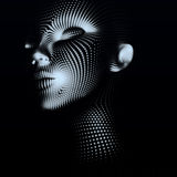 Abstract portrait of girl Stock Photo
