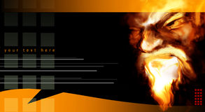 Abstract Portrait In Flames Stock Image