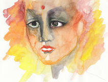 Abstract portrait painting Stock Photography