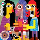 Abstract portrait of three women Royalty Free Stock Image