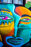 Abstract Portraits. VALPARAISO - NOVEMBER 07: Street art in Concepcion and Alegre districts of the protected UNESCO World Heritage Site of Valparaiso on November stock photography