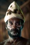 Abstract Portret van de strijder Asmat Stock Foto's