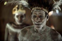 Abstract Portret van een mens van de stam van Asmat Royalty-vrije Stock Afbeelding