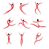 Abstract pose design Royalty Free Stock Photo