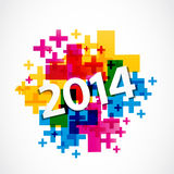 Abstract positive 2014 paper Royalty Free Stock Image