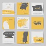 Abstract postcard templates stock illustration