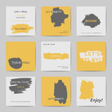 Abstract postcard templates royalty free illustration