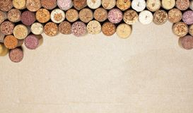 Abstract postcard with wine corks Royalty Free Stock Photography