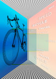 Abstract poster for cycling Royalty Free Stock Photo