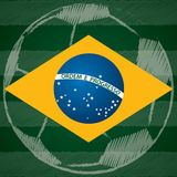 Abstract poster design with Brasil flag Stock Images