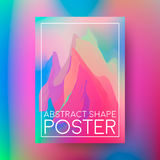 Abstract poster design. Cover composition of geometric colorful shapes.. Vector illustration Stock Images