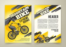 Abstract poster of motocross competitions Stock Photo