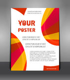 Abstract poster with rays Royalty Free Stock Images