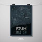 Abstract poster template design Stock Photos