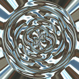 Abstract Pot of liquid silver  Stock Images