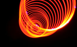 Abstract  power amber light spiral Royalty Free Stock Photos