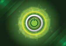 Abstract power button Stock Photos