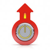Abstract power button with arrow i Royalty Free Stock Photography