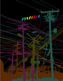 Abstract power lines Royalty Free Stock Image