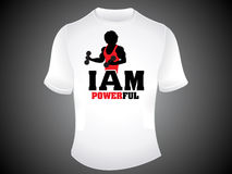 Abstract powerful tshirt template Royalty Free Stock Photography