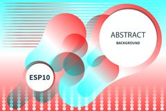 Abstract presentation banner color shapes or web banner. stock image