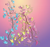Abstract pretty flowers. Abstract pretty flowers on gradient background Royalty Free Stock Photos