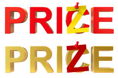 Abstract price and prize concept Stock Photos