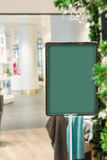 Abstract  price tag in a  frame on blurred background . Royalty Free Stock Image