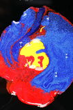 Abstract primary colors. A blend of the primary colors of paint : red, blue and yellow royalty free stock photo