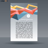 Abstract print A4 design with colored lines for flyers, banners or posters, with money icon, over silver background Royalty Free Stock Photography