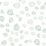 Abstract print with hand drawn leaves. Vector leaf seamless pattern. Elegant nature ornament for wrapping and fabric. Botanical backdrop stock illustration