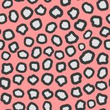 Abstract print. Imitation leopard spots. Color seamless. Pattern. Girly vector illustration Stock Images