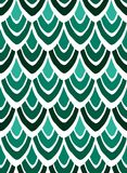 Abstract print of stylized feathers in green colors on a white background. Seamless pattern Royalty Free Stock Photo
