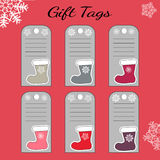 Abstract printable colorful tags collection for Christmas. Stock Image