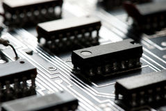 Abstract printed circuit board Royalty Free Stock Photography