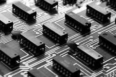 Abstract printed circuit board Royalty Free Stock Images
