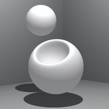 Abstract - Production. Sphere from sphere as in production from or reproduction Stock Photo