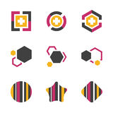 Abstract Professional Business Symbol Teamwork Company Technology Innovation Vector Icon. EPS10 Royalty Free Stock Images