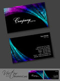 Abstract professional and designer business card. Template or visiting card set. EPS 10. Vector illustration Royalty Free Stock Photos