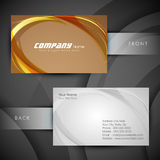 Abstract professional and designer business card Stock Photos