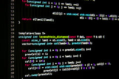 Abstract programming code Royalty Free Stock Image
