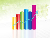 Abstract progress chart Stock Photos