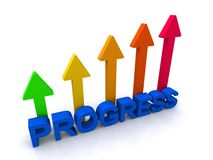 Abstract progress sign Stock Photography