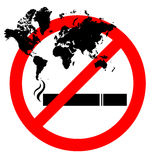 Abstract prohibiting smoking sign Stock Images